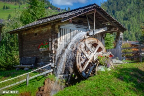 Old mill wheel in austria, heiligenblut