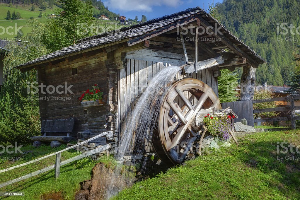 Idyllic Watermill stock photo