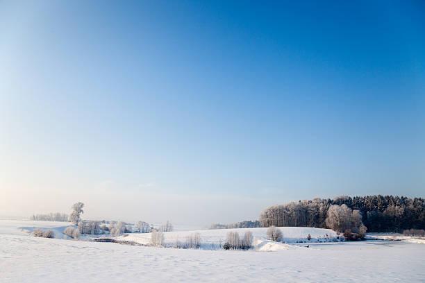 Idyllischer Winterlandschaft in Thüringen – Foto
