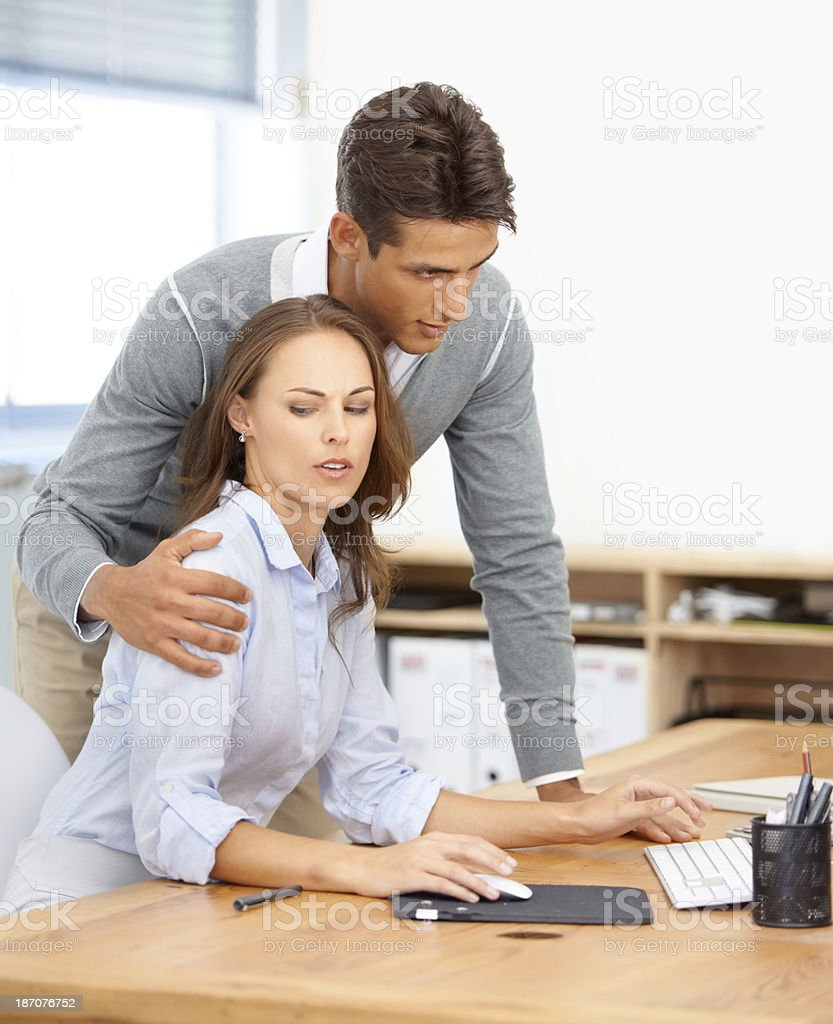 If he doesn't remove his hand right this minute.... stock photo