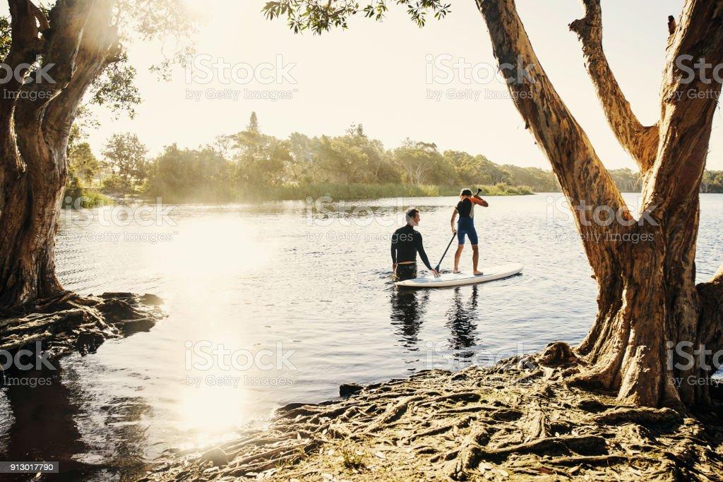 Im Zweifelsfall mein Junge paddeln Sie – Foto