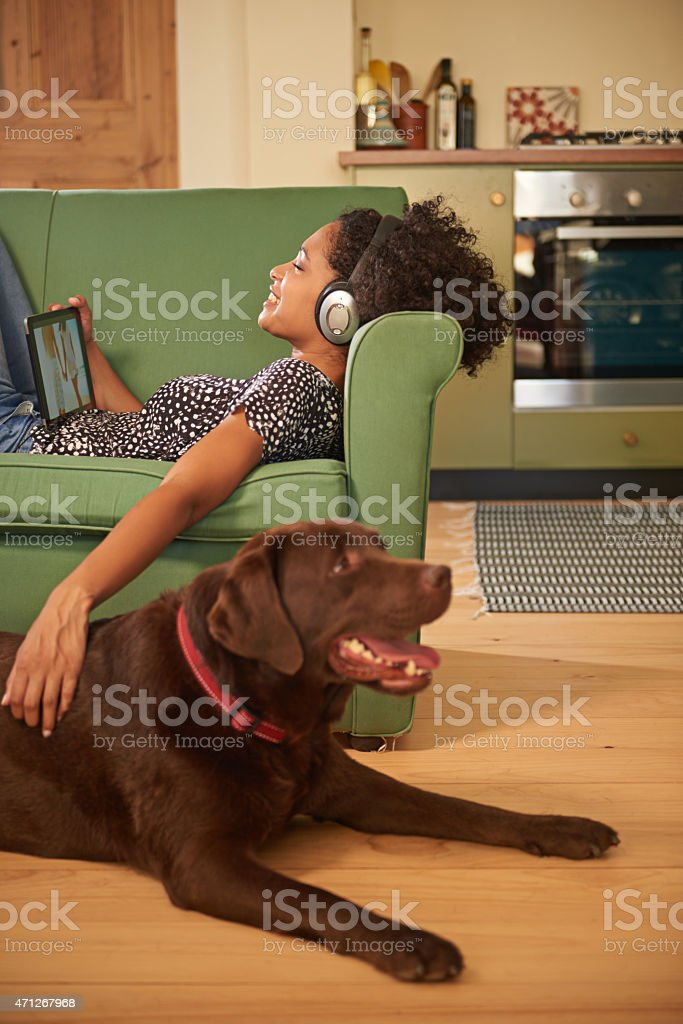 If only she would get out more... stock photo