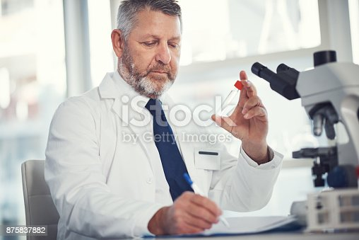 istock If there's a cure to be found, he'll find it 875837882