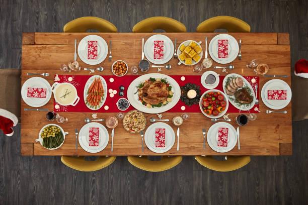 wenn es essen gibt, werde ich da sein - weihnachtsessen ideen stock-fotos und bilder