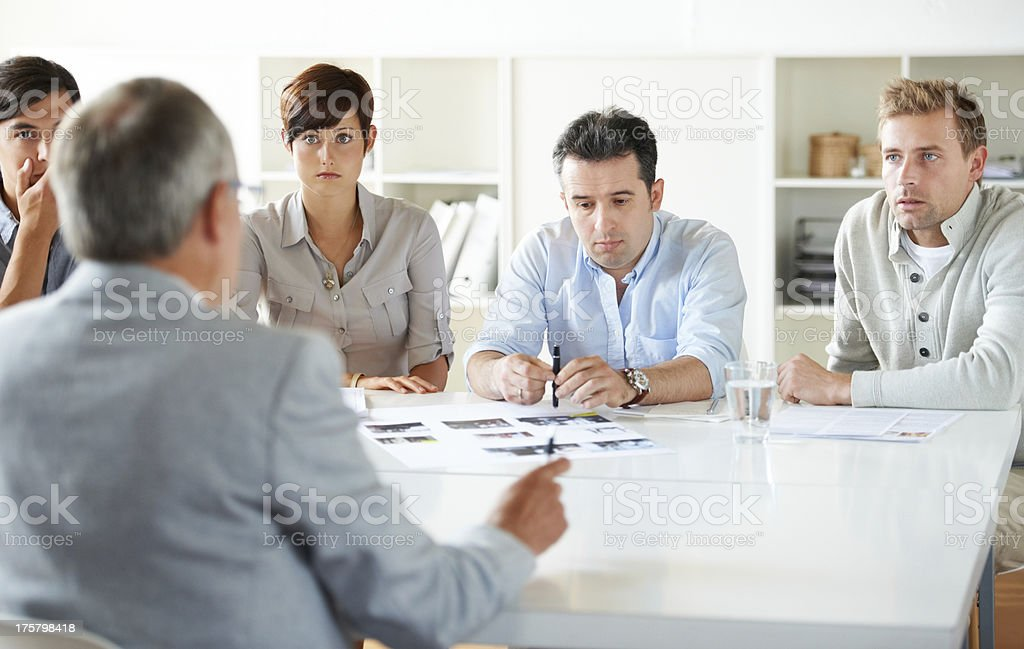 If things don't improve, this team's facing trouble... stock photo