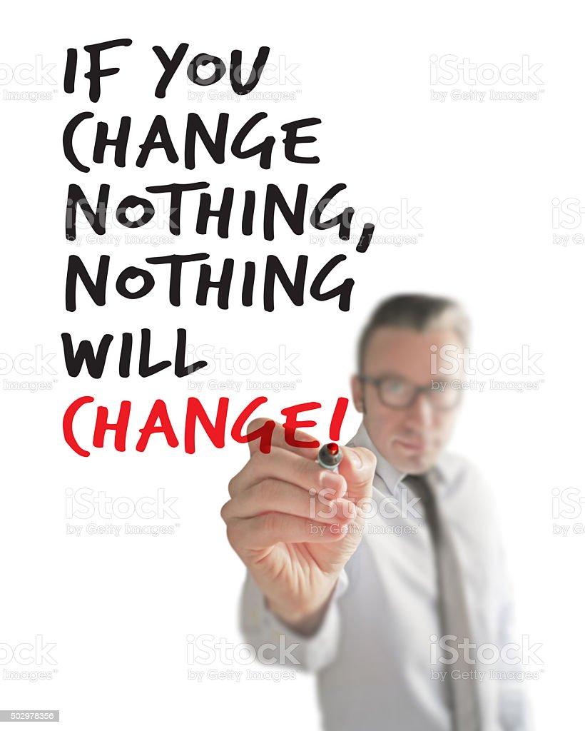 If You Change stock photo