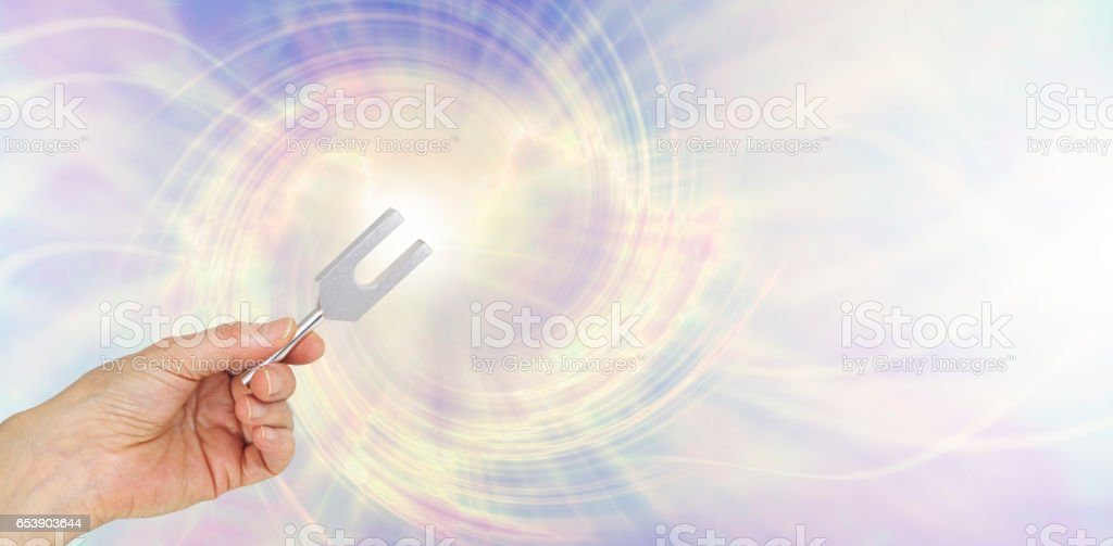If you could see the sound waves make by an Angel Tuning Fork stock photo