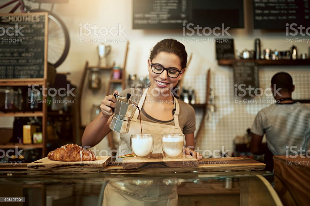 If you didn't love coffee before, you certainly will now stock photo