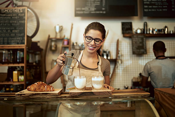 if you didn't love coffee before, you certainly will now - barista stock photos and pictures