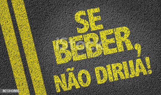 istock If you Drink, Don't Drive (in Portuguese) 801340860