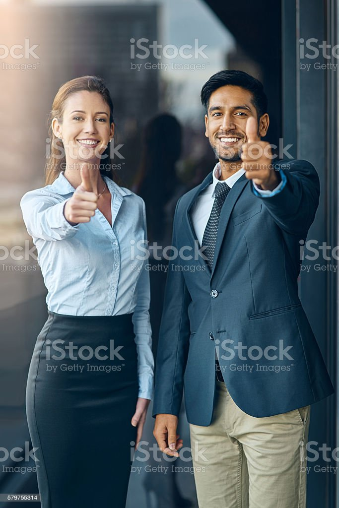 If you have a happy company it will be invincible stock photo