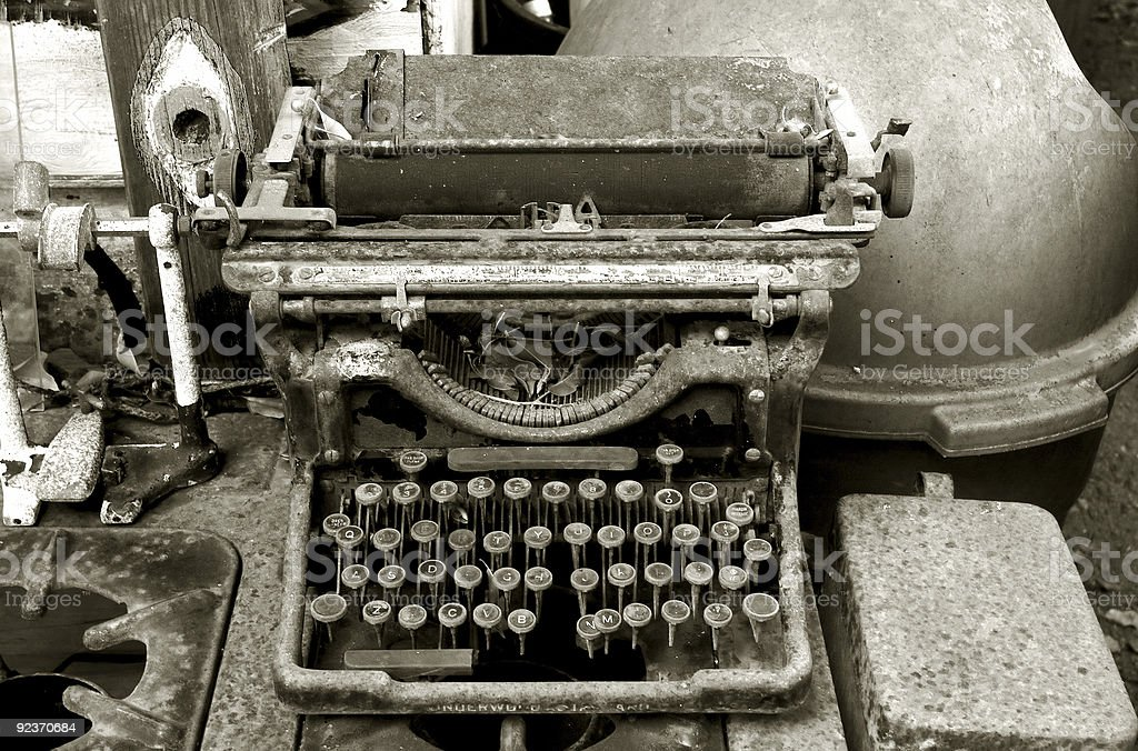 If You Need to Type a Letter . . . royalty-free stock photo