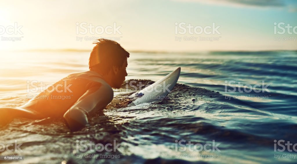 If you're having a bad day, catch a wave stock photo