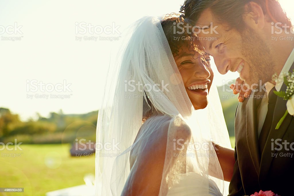 If you're lucky you marry your best friend stock photo