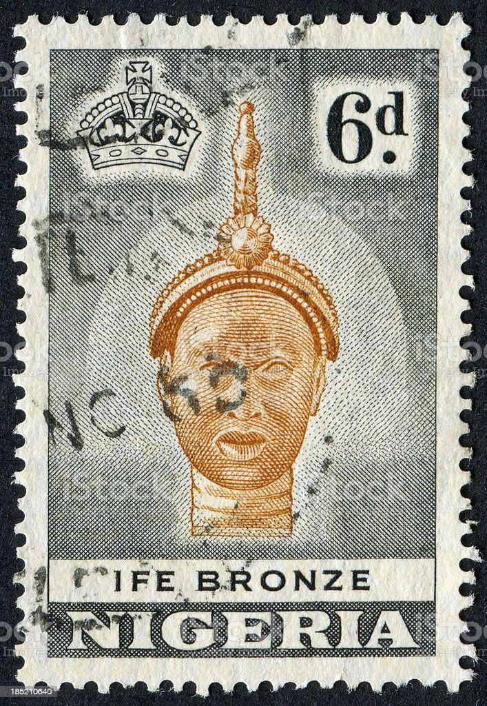 Ife Bronze Stamp royalty-free stock photo