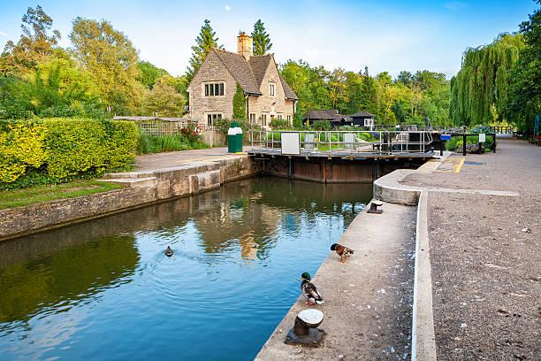 Iffley Lock. Oxford,  England stock photo