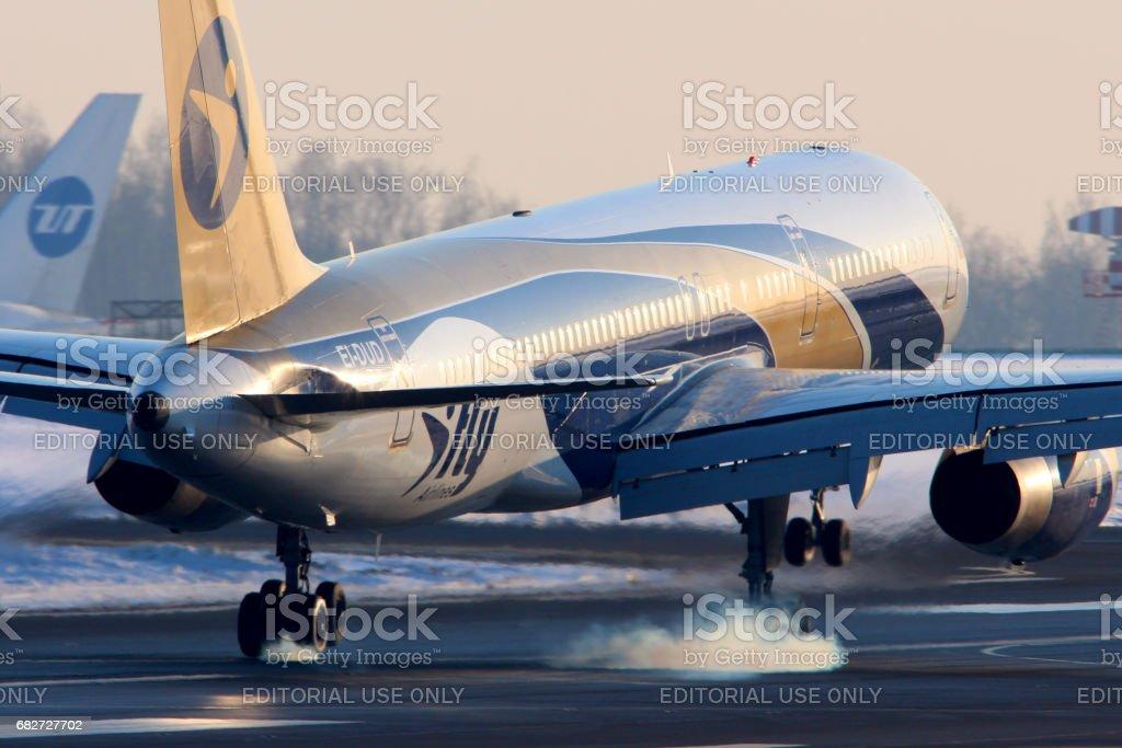 I-FLy airlines Boeing 757-200 EI-DUD landing at Vnukovo international airport.