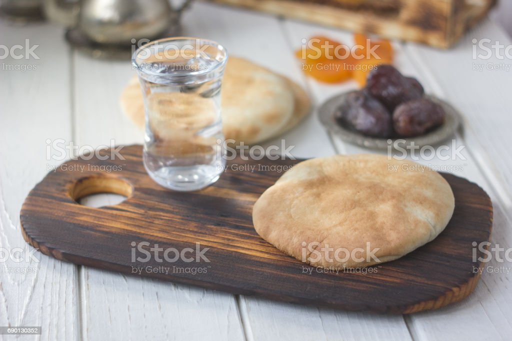 Iftar bread food stock photo