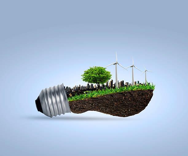 Hell Glühbirne Alternative Energie-Konzept – Foto