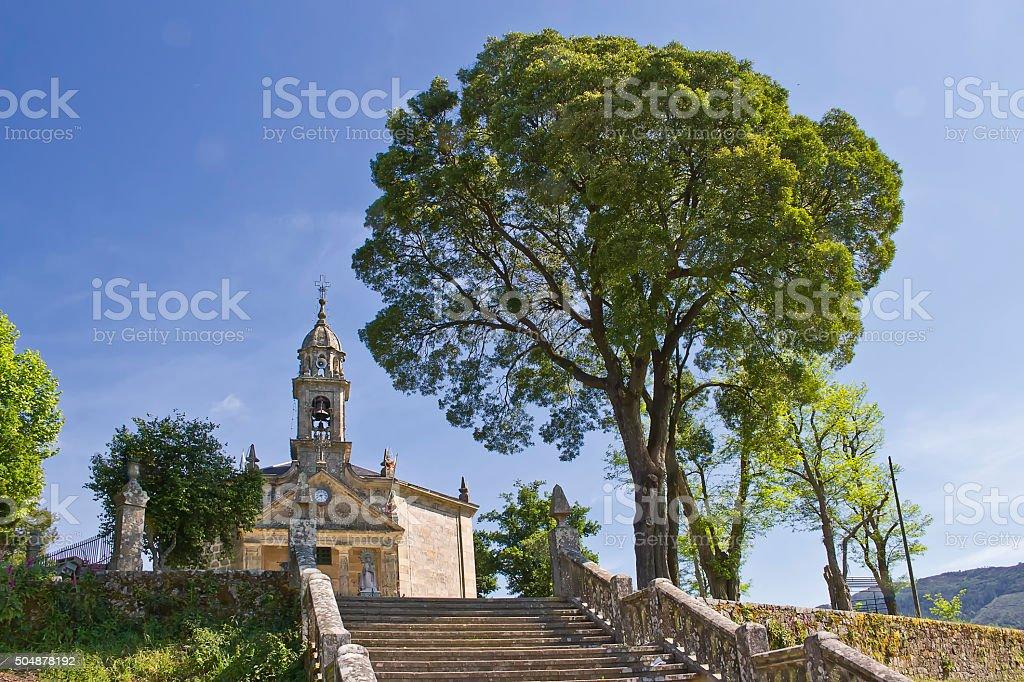 iglesia de Los Milagros de Amil en Moraña, Pontevedra stock photo