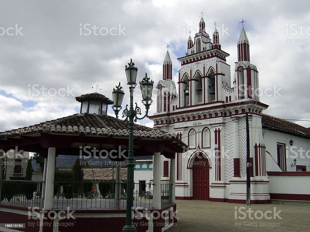 Iglesia de Mexicanos church, San Cristobal - Chiapas royalty-free stock photo