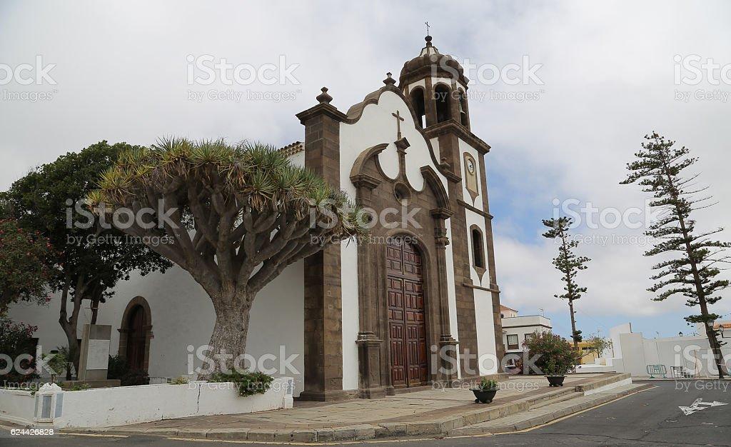 Iglesia de San Juan Bautista, Arico, Santa Cruz de Tenerife stock photo