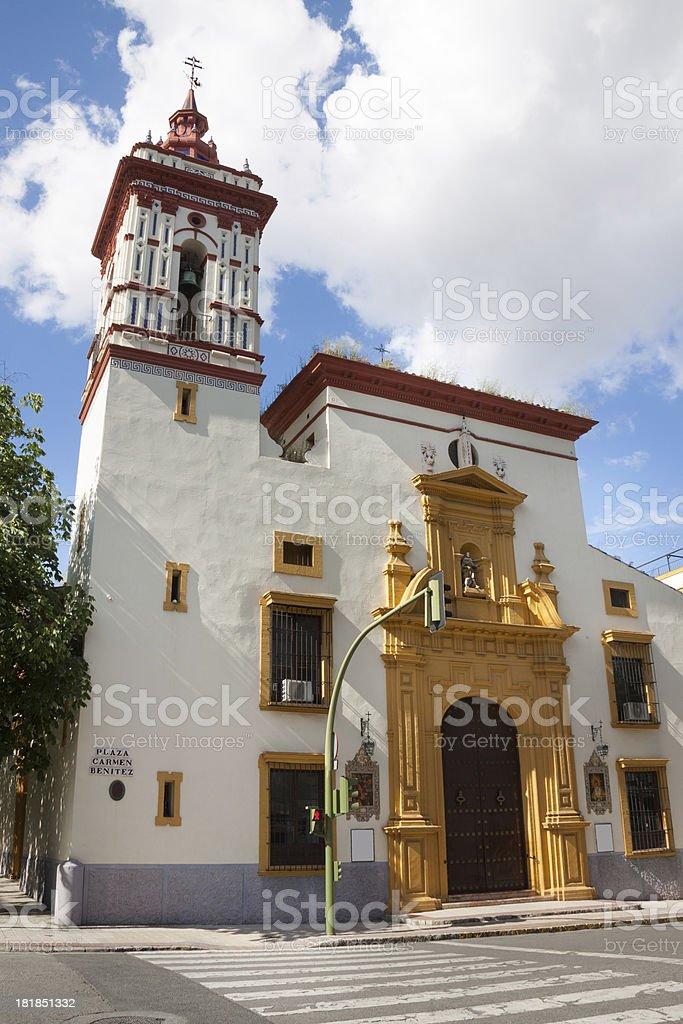 Iglesia de San Roque in Seville royalty-free stock photo