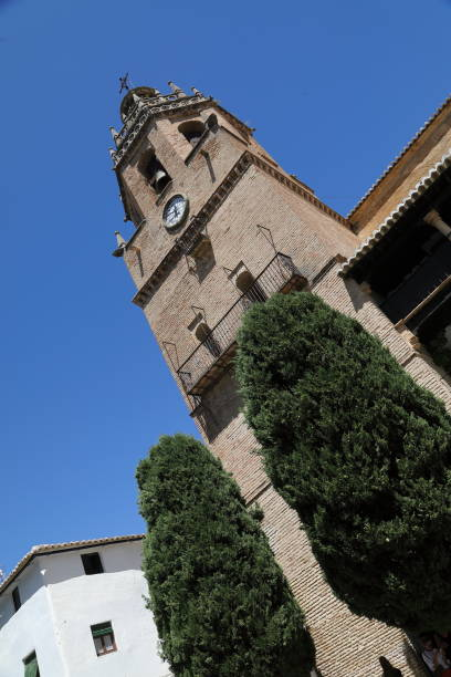 iglesia de santa maria la mayor, ronda - pejft stock photos and pictures