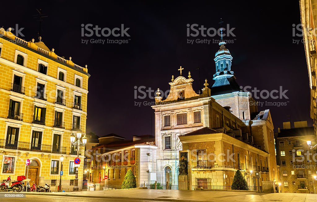 Iglesia del Sacramento, a Baroque-style Roman Catholic church located stock photo