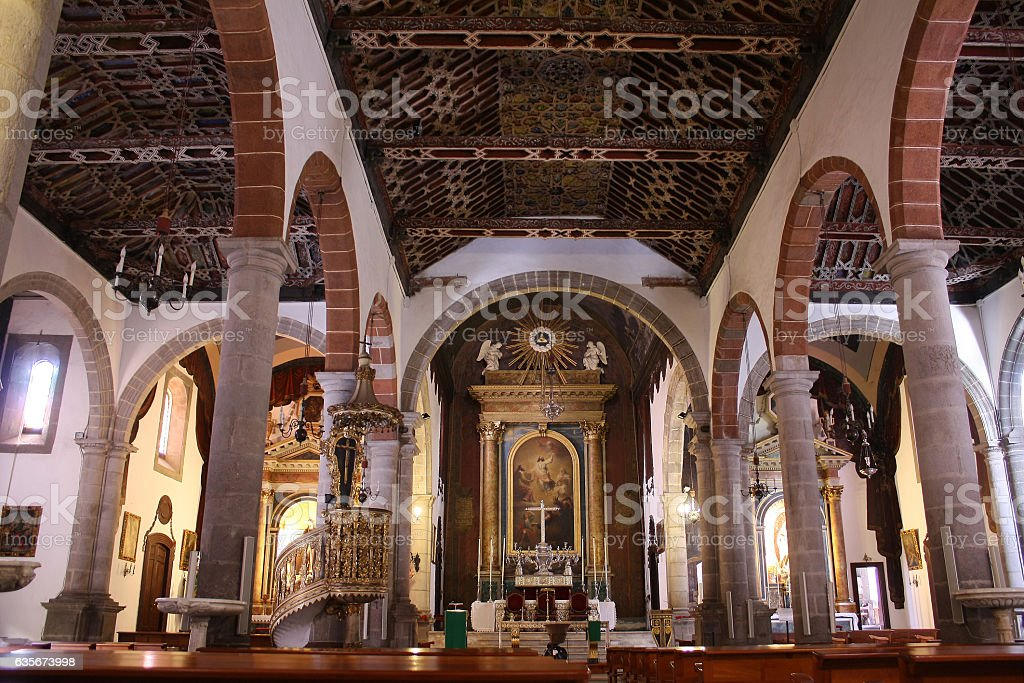 Iglesia El Salvador, Santa Cruz de La Palma, Tenerife stock photo