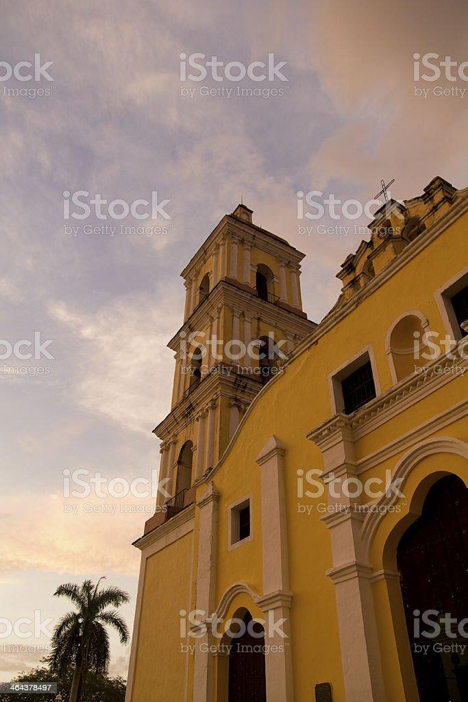 Iglesia Mayor in Remedios, Cuba royalty-free stock photo