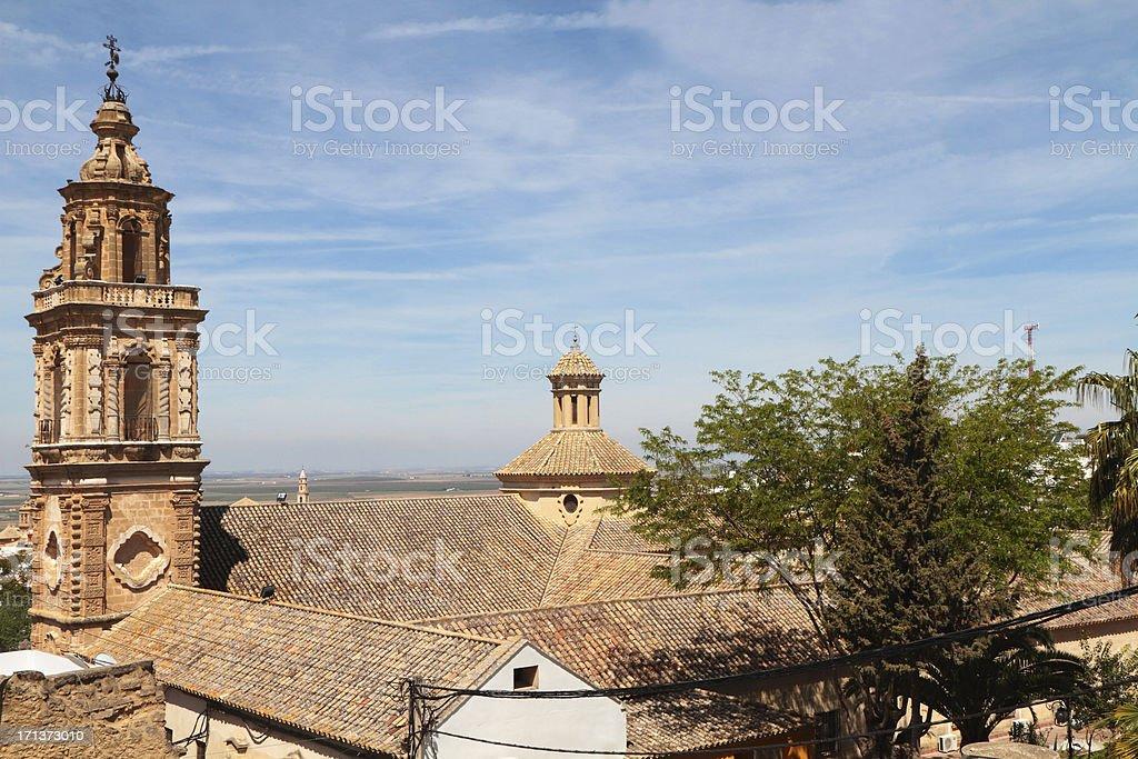 Iglesia Y Torre de la Merced, Osuna, Seville Province, Spain stock photo