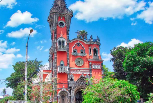 iglesia yurrita (yurrita kirche)-guatemala-stadt - guatemala stadt stock-fotos und bilder