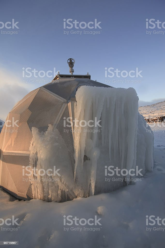 Igloo and Icecle royalty-free stock photo