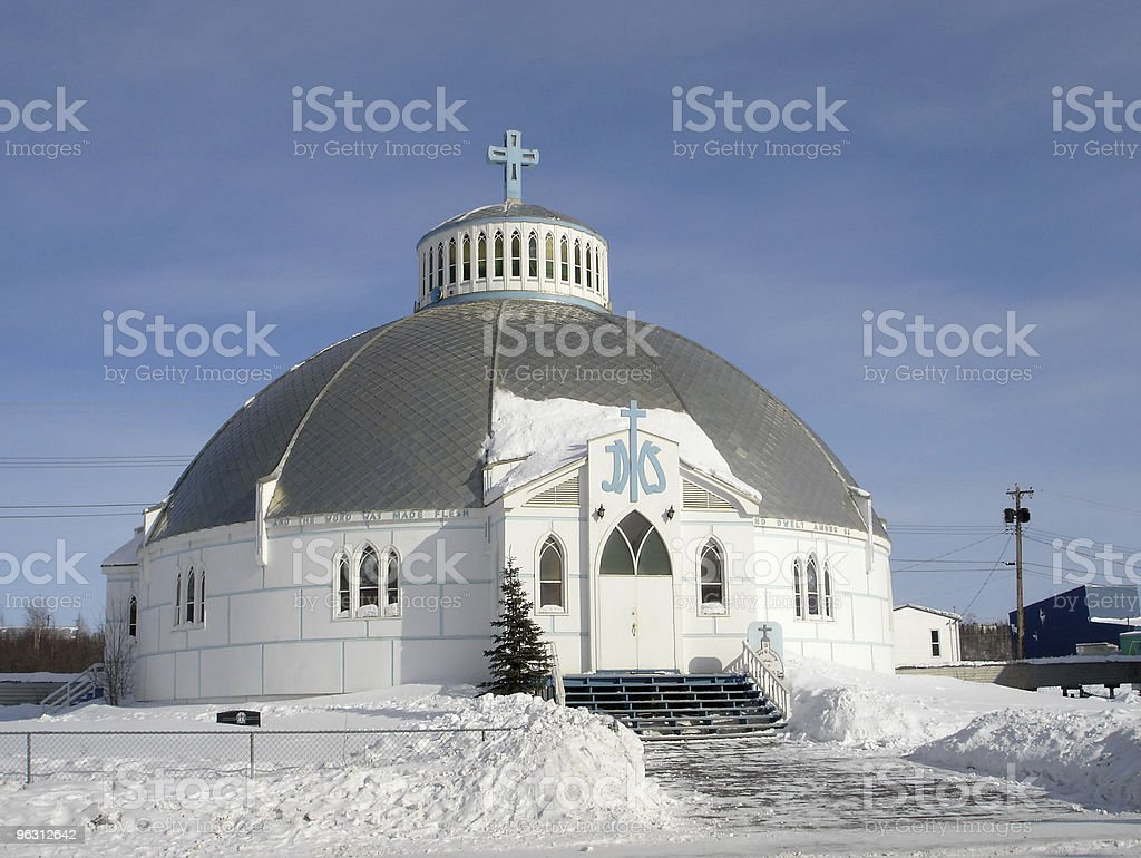 Igloo Church, Inuvik stock photo