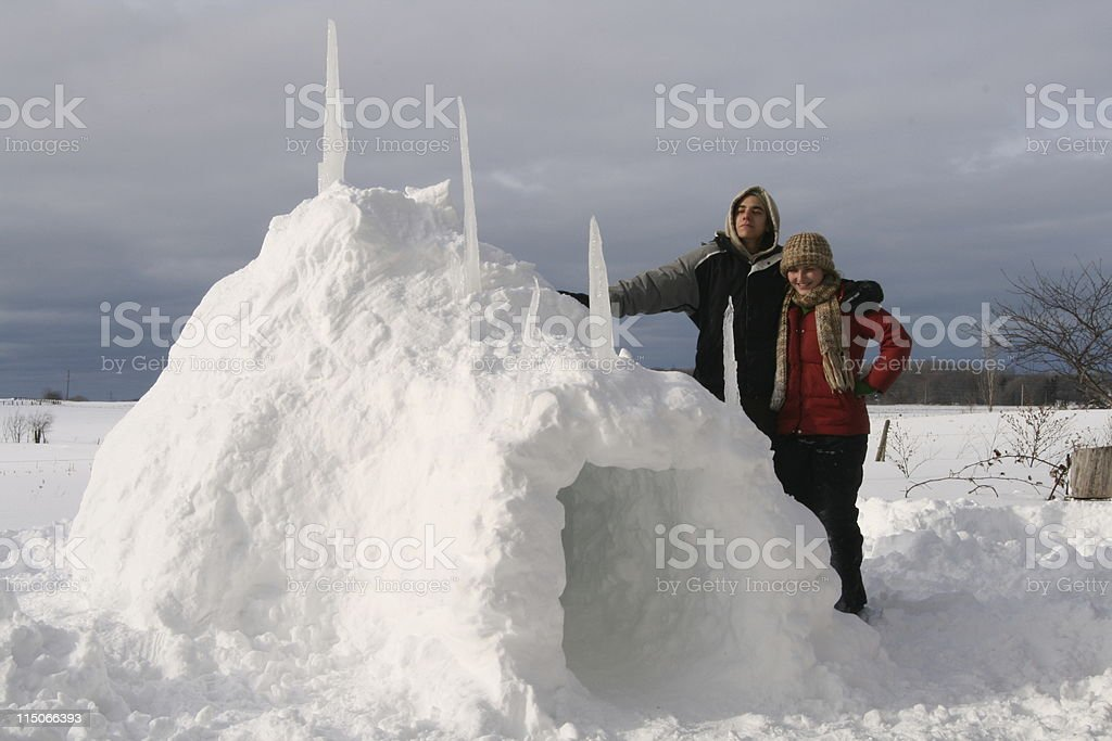 Igloo; Our First Canadian Home royalty-free stock photo