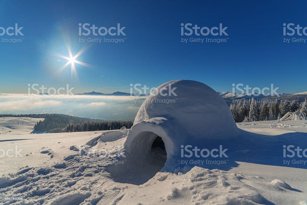 igloo stock photo