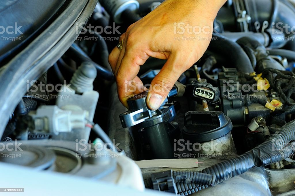 Ignition coil stock photo