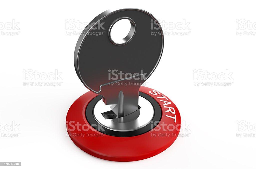 Ignition key stock photo