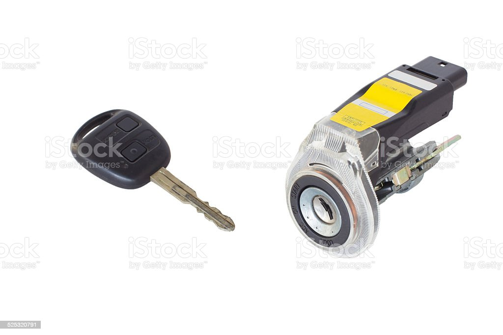 ignition lock with key stock photo