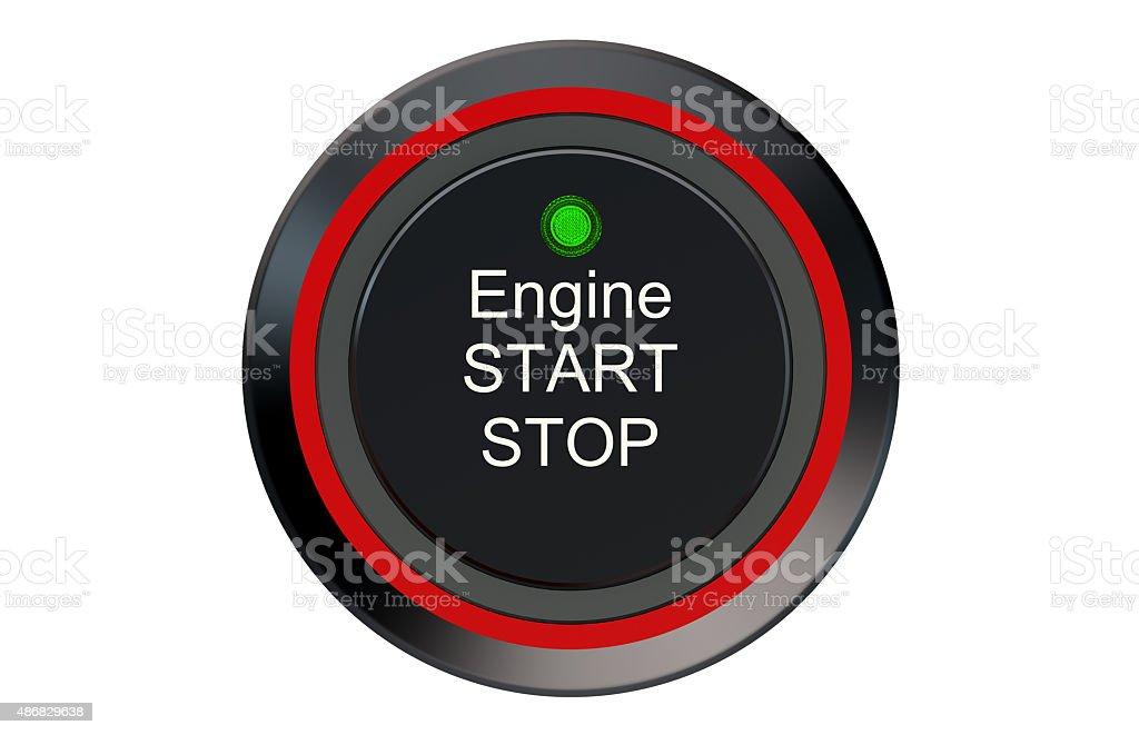 Ignition start button stock photo