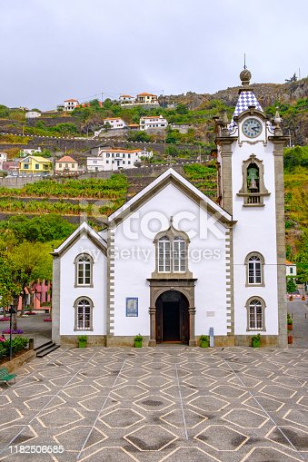 istock Igreja de São Bento or Saint Benedict Church on Madeira island in the town of Ribeira Brava on the South coast 1182506585