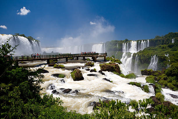 Iguacu Cascades stock photo