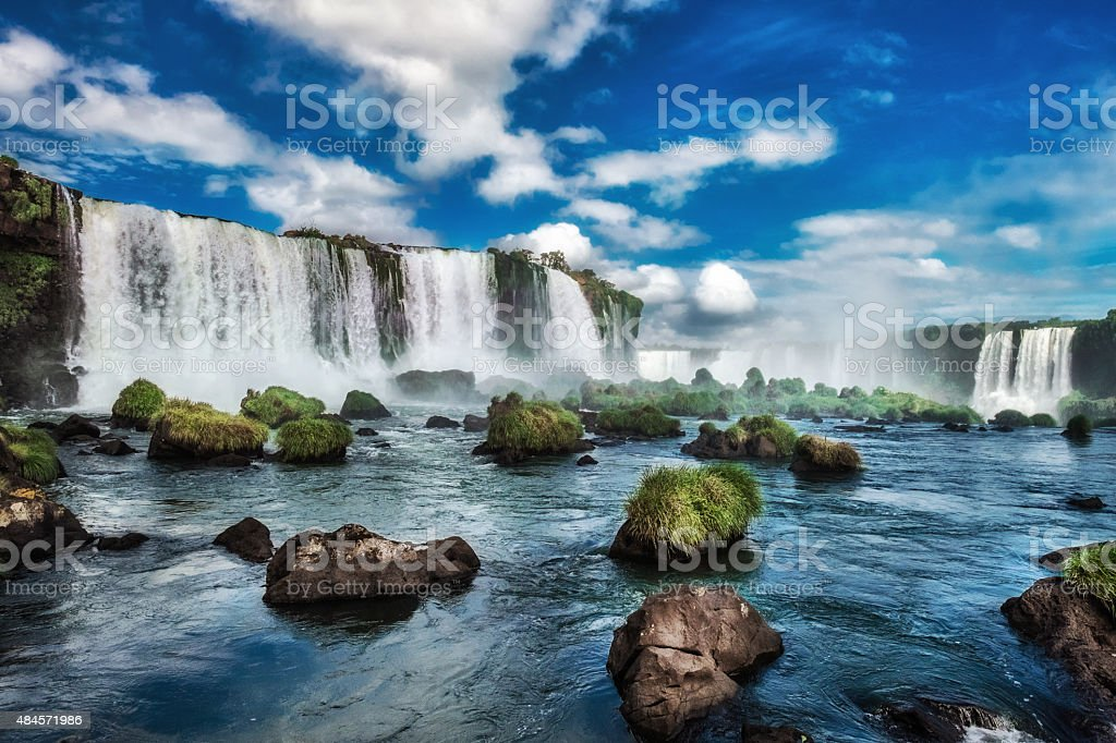 Iguacu Falls, Brazil, South America stock photo