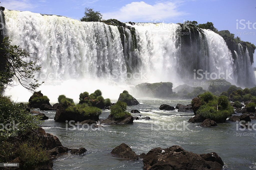 Iguassu (Iguazu; Iguaçu) Falls - Large Waterfalls royalty-free stock photo