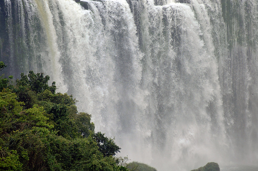 Iguaçu falls the world's largest waterfall, are located on Iguaçu river, on the border of the Argentine's Misiones province, and Brazil's Parana state. Iguaçu falls are a major tourist attraction in South America.