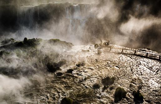 Aerial view of Iguaçu falls, Brazil