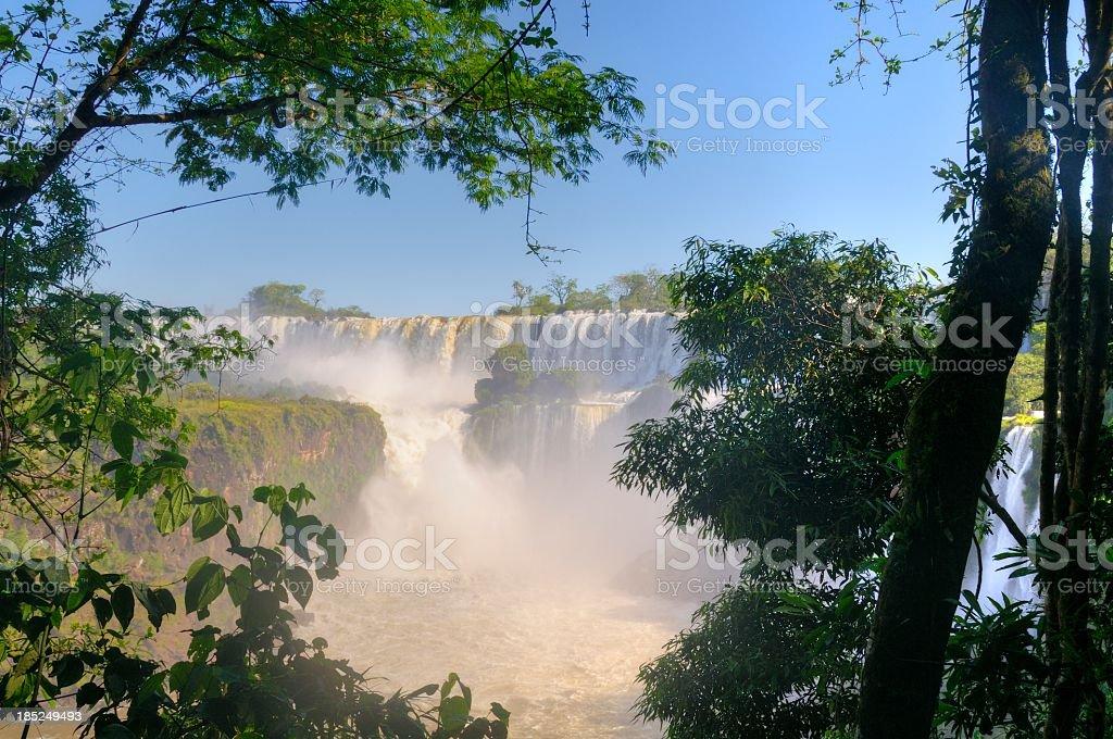 Iguazu falls HDR royalty-free stock photo