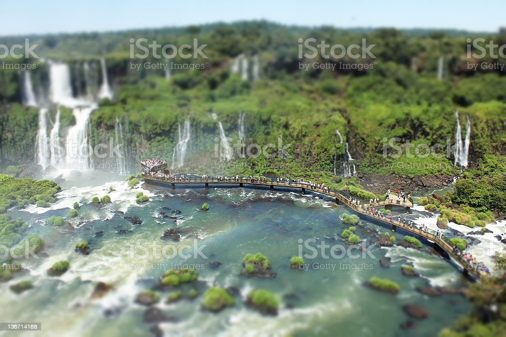 Iguazu Falls in summer day royalty-free stock photo