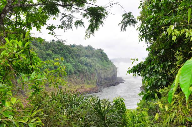 Iguazu Falls, on the border of Brazil, Argentina, and Paraguay. stock photo